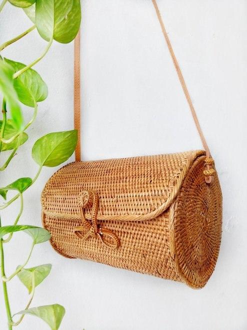 Blue cabana, bohemian bag, chic boho bag, beach bag, rattan bag, beach accessories, bohemian accessories, chic hippie accessories, bali bag