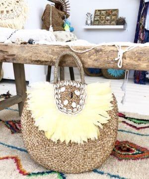 Lola bag Yellow Blue Cabana - boutique de plage bohème